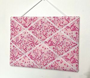 New Memo board made with Lilly Pulitzer In The Swing Of Things fabric