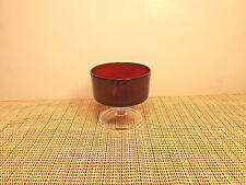 """Cristal d""""Arques Crystal Cavalier Ruby Pattern Sherbet Glass 3 1/4"""""""