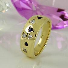 Natürliche Echtschmuck Ringe im Band-Stil aus Gelbgold