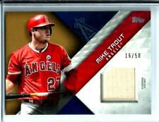 2018 Topps Series 1 Major League Material Bat Relic D # 16/50 Mike Trout  Angels