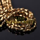 New 100pcs 5X3mm Teardrop Crystal Glass Faceted Spacer Loose Beads Gold Plated