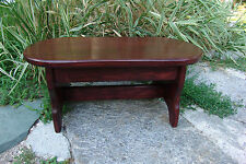 "21"" Handcrafted Heavy Duty Step Stool, OVAL Solid Wood, Bedside Foot, Geo Cherry"