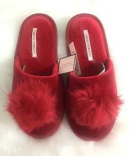Victoria's Secret Pom Pom Red Slippers - Small - Brand New - UK SELLER