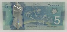 Canadian 2013 $5 M.Carney Changeover Note Serial # HBG0597693