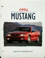 1994 Ford Mustang & GT Dealer Only Competitive Comparison Camaro Guide Brochure