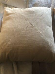 Square Khaki Beige Zippered Pillow