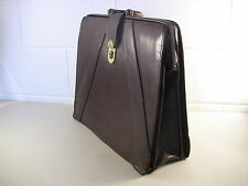 Vintage Brown Leather Briefcase Laptop Bag Business Case Authentic IRS Issue