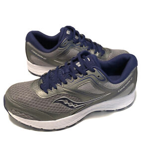 Saucony Mens Versafoam Cohesion 12 Grey Blue Running Shoes Size 12 S20472