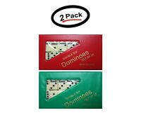 2 Double Six Mini Dominoes Dominos Set of 28 Tiles Each (2 Pack)- New- Free Ship