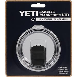 Yeti AUTHENTIC Rambler MagSlider Lid - 10 Oz. Lowball / 20 Oz. Tumbler Clear