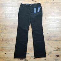 NWT Chaps Womens Pants Black Corduroy Slimming Fit Sz 10 MSRP $50