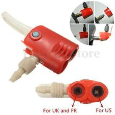 Universal Bike Bicycle Replacement Tyre Track Pump Dual Head Spare Valve Adaptor