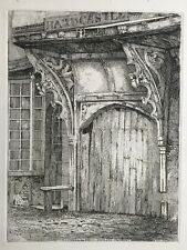 1810 Antique Print; Entrance to the White Swan Inn, York after Henry Cave