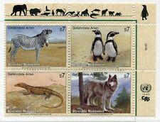19394) United Nations (Viena) 1993 MNH Wild Animals + Lab
