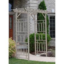 New listing Mocha Slatted Top Vinyl Garden Arbor Outdoor Home Living Furniture Decor Yard