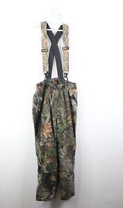 Vintage Cabelas Mens Large Dry Plus Scentlok Mossy Oak Camouflage Bibs Overalls