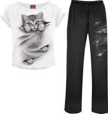 Pijamas y batas de mujer de color principal negro 100% algodón