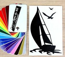 Sailing Yacht Sticker RC Club Vinyl Decal Adhesive Wall Car Window Bumper #2