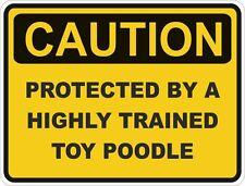 Juguete perro raza caniche precaución Pegatina Mascota para Coche de Parachoques Puerta Locker