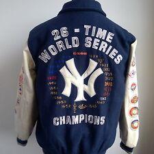 NEW York Yankees Giacca Varsity MLB Baseball Maglietta World Series Taglia Adulto M