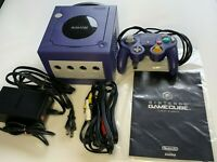 Ninntenndo Game Cube Console purple with RCAcable  GC NTSC-J (Japan) JAPAN JP