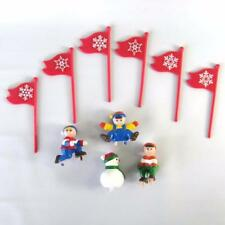 1992 Mr Christmas Santa's Ski Slope Replacement Figures Flags Lot of 10