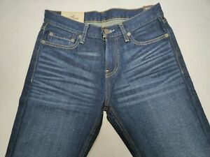 """Hollister Mens Blue Denim Jeans Brand New With Tags BNWT W30"""" L30"""" Bootcut"""