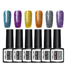 6Pcs LEMOOC 8ml Glitter UV Gel Polish Nail Art Soak Off UV LED Gel  #6