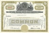 The New York Chicago and St Louis Railroad Company 100 Share Stock Certificate
