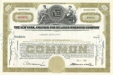 New listing The New York Chicago and St Louis Railroad Company 100 Share Stock Certificate