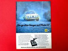 1973 orig. Werbung aus Zeitschrift  Automodell OPEL ASCONA Motivvariante