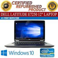 """Dell Latitude E7250 12"""" Intel i5 8 GB RAM 128 GB SSD Win 10 WiFi B Grade Laptop"""