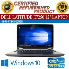 "Dell Latitude E7250 12"" Intel i5 8 GB RAM 128 GB SSD Win 10 WiFi B Grade Laptop"