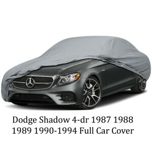 Dodge Shadow 4-dr 1987 1988 1989 1990-1994 Full Car Cover