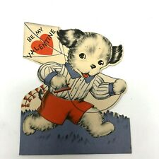 1930s adorable anthropomorphic dog flying a kite Norcross