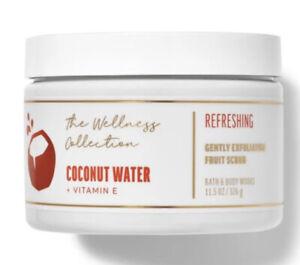 Bath & Body Works WELLNESS COLLECTION COCONUT WATER Exfoliating Fruit Scrub
