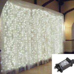 Christmas Curtain Lights Fairy Waterproof Indoor/Outdoor Wedding Plastic Cable