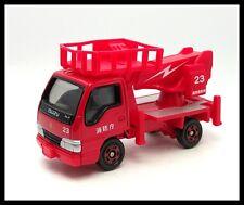 TOMICA #83 ISUZU ELF AERIAL PLATFORM FIRE TRUCK 1/68 TOMY DIECAST CAR NEW