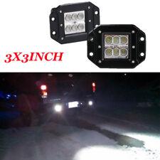 3x5Inch Flush Mount LED Work Light bar Offroad Jeep SUV 4x4 Bumper Reverse Flood