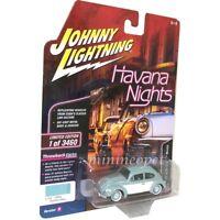 JOHNNY LIGHTNING JLCP7096 HAVANA NIGHTS 1965 VOLKSWAGEN BEETLE 1/64 BAHAMA BLUE