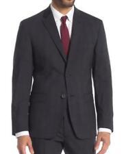 JB Britches Mens 42R Charcoal Gray Blue Plaid Wool Suit Jacket Blazer Sport Coat