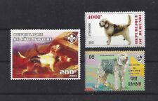 Dog Art Body Portrait Postage Stamp Collection Otterhound Otter Hound 3 x Mnh