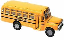 "Die Cast Metal Toy Yellow School Bus (5"") Pull Back & Go Action! Open Door/Hood"