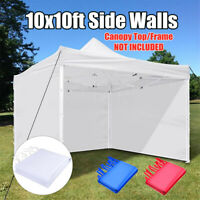 10'x10' Gazebo Outdoor Wedding Marquee Party Tent Canopy Camping 3 Side Walls
