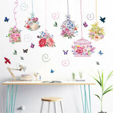 Flower Birdhouses Hoom Room Decor Removable Wall Sticker Decal Wandtattoo