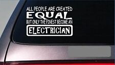 "Electrician equal Sticker *G645* 8"" vinyl wiring kit electric socket plug tools"