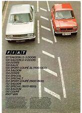 Fiat 1973 UK Market Foldout Sales Brochure 127 128 124 132 130 850T