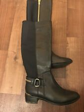 Steve Madden, knee high Genuine leather boots with golden details