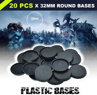[32mm 20pcs] Round Bases Model Wargames Gaming Miniatures Plastic Circular Base