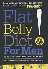 Flat Belly Diet! for Men  by Liz Vaccariello & D. Milton Stokes, Like New!